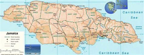 jamaica map jamaica mappery