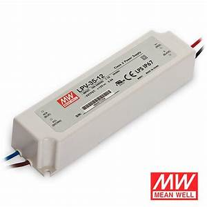 12v  24v 35 Watt Ip67 Mean Well Transformer For Led Tape