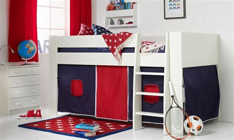 solitaire white midsleeper  navy red tent
