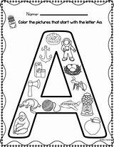 Nook Coloring Beginning Sounds Template sketch template