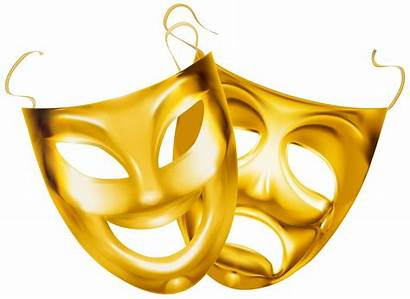 Masks Theater Clipart Gold Theatre Transparent Clip
