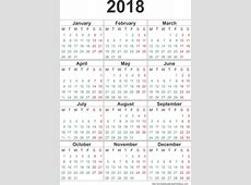 Calendar 2018 Template 12 monthspage Printable 2017