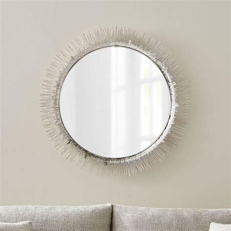 How To Hang A Bathroom Mirror On Drywall by Clarendon Large Silver Wall Mirror