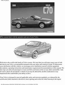 98 Volvo C70 Convertible 1998 Owners Manual