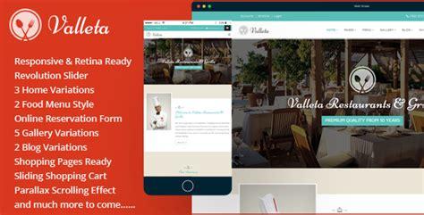 valleta bootstrap food restaurants html template http