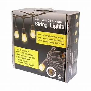 48ft waterproof outdoor string light cable With outdoor string lights with cable