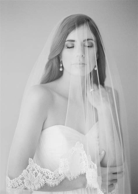 Marguerite French Lace Chapel Veil Tania Maras