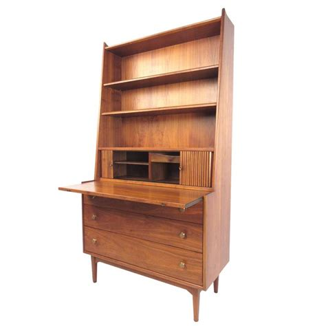 mid century modern bookcase mid century modern bookcase with writing desk by kipp