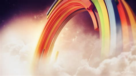 rainbow clouds wallpapers hd wallpapers id