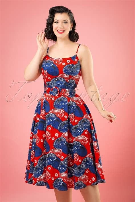5ac99b2aefd6 1020 x 1530 topvintage.nl. 50s Lilly Japanese Parasol Swing Dress ...