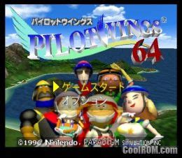 pilotwings  japan rom   nintendo