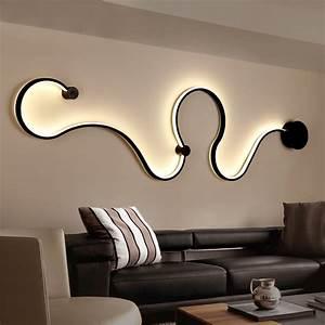 Lampe Schwarz Weiß : modernen minimalistischen kreative wandleuchte schwarz wei led innen wohnzimmer schlafzimmer ~ Frokenaadalensverden.com Haus und Dekorationen