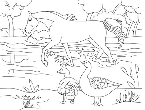 mewarnai gambar sketsa flora fauna terindah