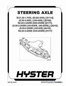 Hyster Challenger H45xm H50xm H55xm H60xm H65xm Forklift