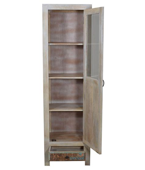 Buy Single Wardrobe by Shekhawati Solid Wood Single Door Wardrobe Buy At
