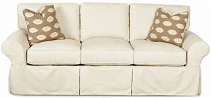 Klaussner patterns slipcovered sofa with rolled arms and for Furniture covers patterns