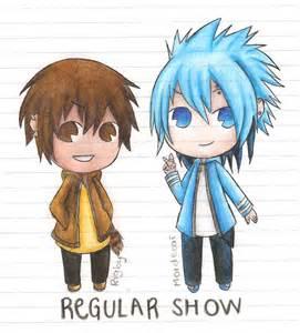 Regular Show Mordecai and Rigby Anime