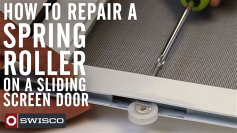how to repair a roller on a sliding screen door