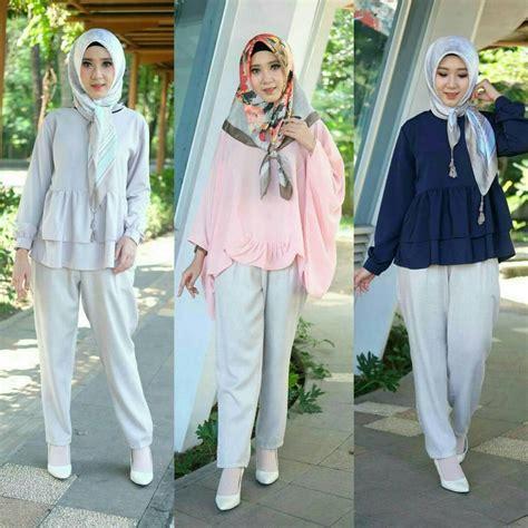 trend busana hijab  simple casual  modern