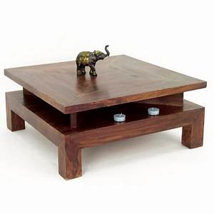 Table Basse Bois Exotique : table basse carr e en palissandre zen mobilier ethnique ~ Dode.kayakingforconservation.com Idées de Décoration