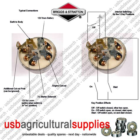 6 Wire Ignition Switch Diagram by Ignition Switch Genuine Briggs Stratton 692318 Next Day