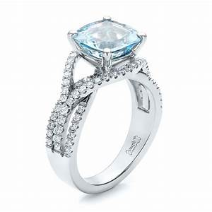 custom aquamarine and diamond engagement ring 100895 With aquamarine wedding ring