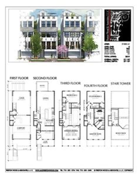 townhomes with master bedroom on floor townhouse plan d9132 lots 1 4 plans 21168