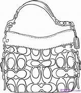 Coach Handbag Pages Draw Coloring Handbags Gucci Purses Colouring Purse Bag Step Drawing Hand Accessories Dragoart Sketches Illustration Belt Kerra sketch template