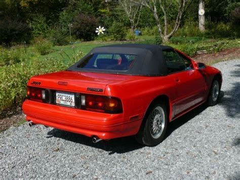 Sell Used 1990 Mazda Rx-7 Rx7 Convertible Red 2d Rotary