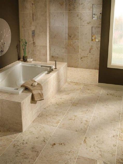 bathrooms travertine gray  baja cream travertine