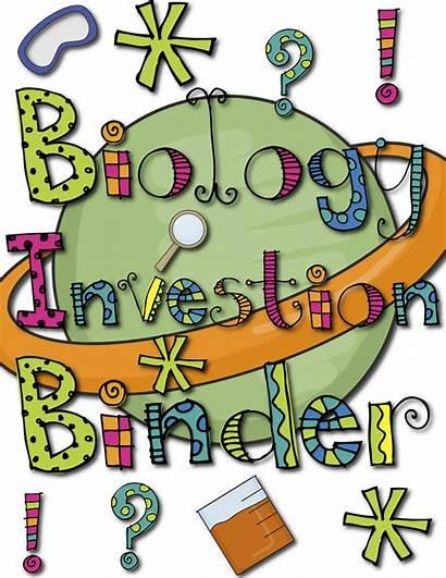 Science Clipart Biology Chemistry Binder Title Transparent