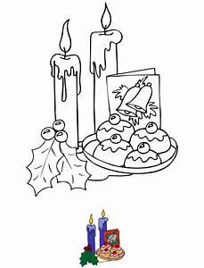 Bougie De Noel Dessin : dessin colorier bougies et d coration de no l tipirate ~ Voncanada.com Idées de Décoration