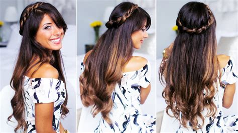 twisted half up do hairstyle