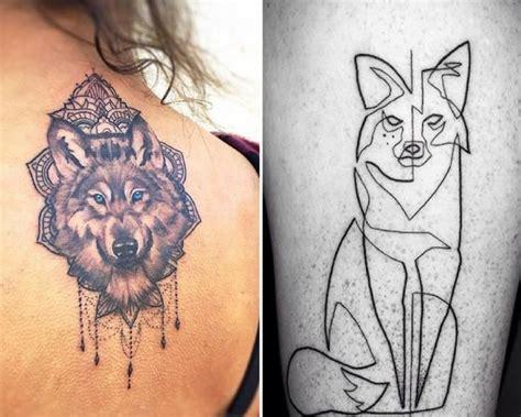 tatouage loup et t 234 te de loup mod 232 les et signification en images