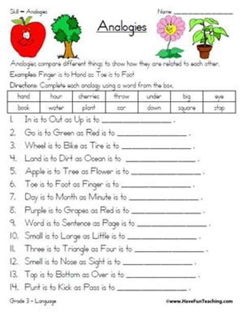 Analogy Worksheet  Education World