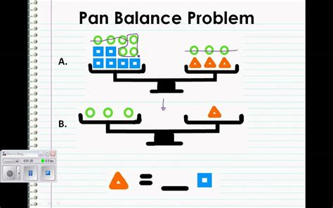 pan balance problem youtube