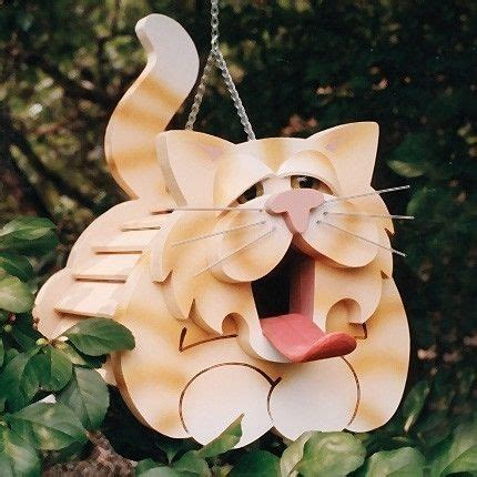 wooden cat birdhouse plan  templates bird houses wooden cat birds