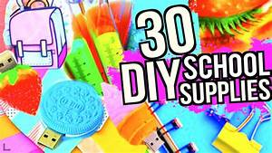 30 DIY SCHOOL SUPPLIES PROJECTS FOR BACK TO SCHOOL 2016 ...
