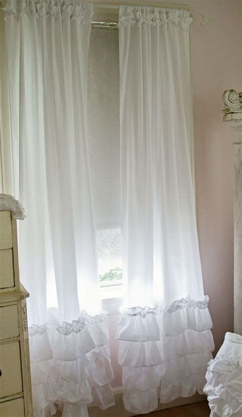 white ruffled curtains shabby chic ruffled curtain panels shabby chic style curtains white ruffles vintage rose collection