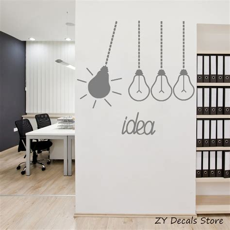 Wall Mural Ideas Office by Light Bulbs Idea Office Decor Stickers Removable