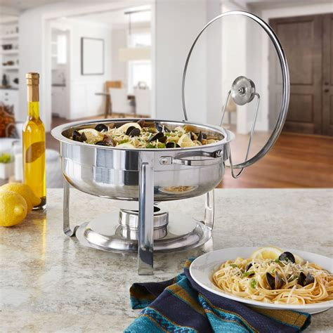 Galleon Artisan Stainless Steel Round Buffet Chafer With