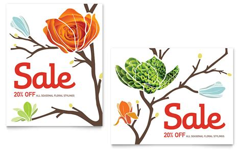 flower shop poster template word publisher