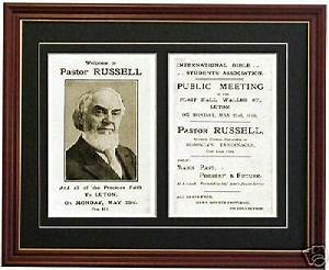 Russell 1000 Chart Watchtower Charles Taze Russell C T Pastor Invitation Ebay