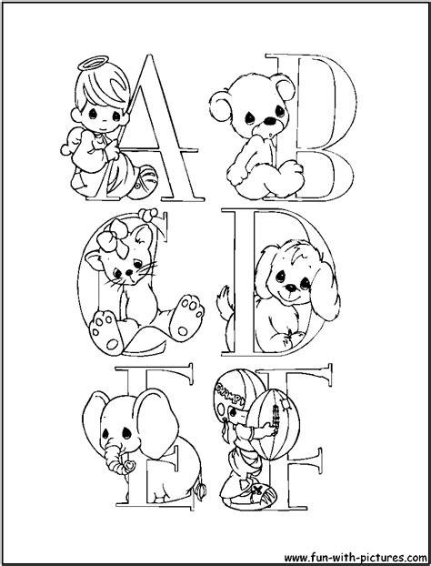alphabets preciousmoments coloring pages  printable