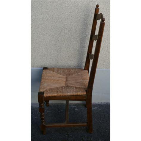 chaise paillée chaise style louis xiii paillée sur moinat sa antiquités