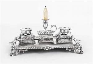 Delightful, Antique, Desk, Accessories