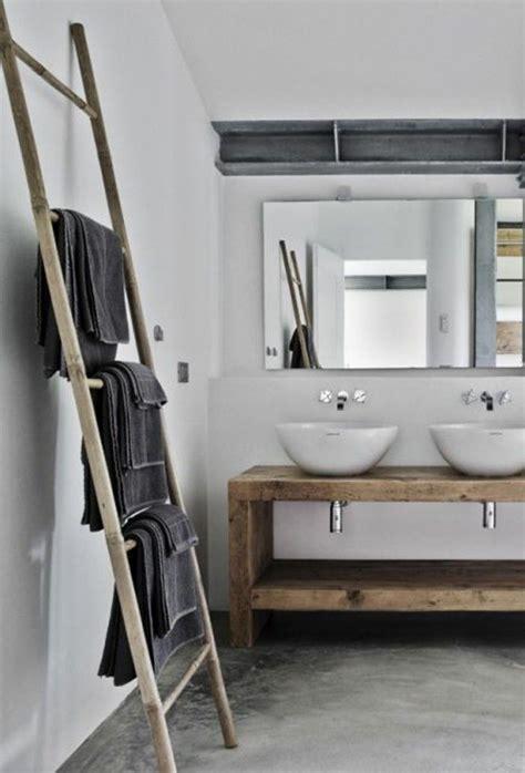 id 233 e d 233 coration salle de bain porte serviette murale salle de bain en bois sol en beton cire