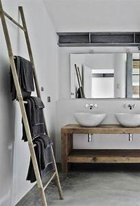 Sol Bois Salle De Bain : id e d coration salle de bain porte serviette murale ~ Premium-room.com Idées de Décoration