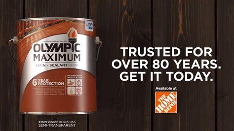 olympic maximum stain sealant   youtube