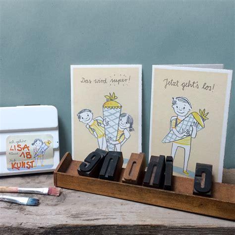 Glückwunschkarte Zur Einschulung Für Mädchen Und Jungen